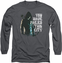 Arrow TV Show on CW long-sleeved shirt You Have Failed charcoal