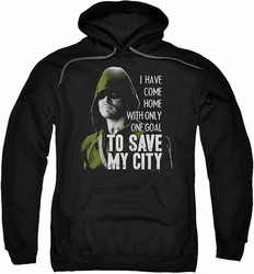 Arrow TV Show on CW pull-over hoodie Save My City adult black
