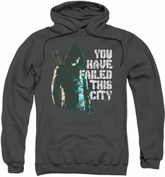 Arrow TV Show on CW pull-over hoodie You Have Failed adult charcoal