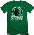 Arrow TV Show on CW slim-fit t-shirt Archer mens kelly green