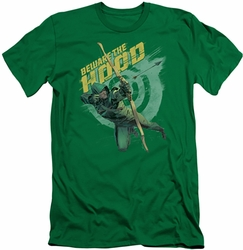 Arrow TV Show on CW slim-fit t-shirt Beware mens kelly green
