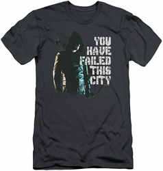 Arrow TV Show on CW slim-fit t-shirt You Have Failed mens charcoal