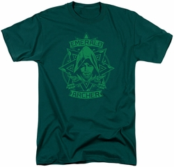 Arrow TV Show on CW t-shirt Archer Illustration mens hunter green