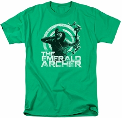 Arrow TV Show on CW t-shirt Archer mens kelly green