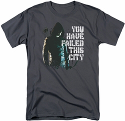 Arrow TV Show on CW t-shirt You Have Failed mens charcoal