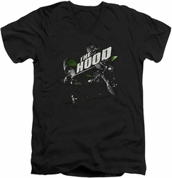 Arrow TV Show on CW Take Aim mens black v-neck t-shirt