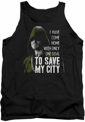 Arrow TV Show on CW tank top Save My City adult black