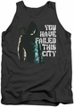 Arrow TV Show on CW tank top You Have Failed adult charcoal