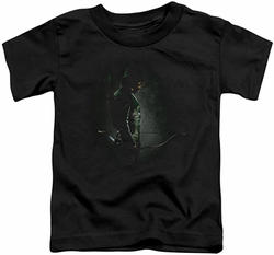 Arrow TV Show on CW toddler t-shirt In The Shadows black