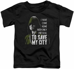 Arrow TV Show on CW toddler t-shirt Save My City black