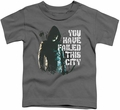 Arrow TV Show on CW toddler t-shirt You Have Failed charcoal