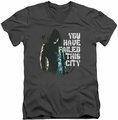 Arrow TV Show on CW You Have Failed mens charcoal v-neck t-shirt