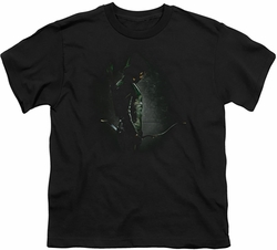 Arrow TV Show on CW youth teen t-shirt In The Shadows black