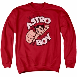 Astro Boy adult crewneck sweatshirt Flying red
