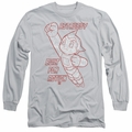Astro Boy adult long-sleeved shirt Built For Action silver
