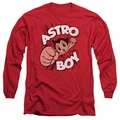 Astro Boy adult long-sleeved shirt Flying red