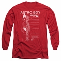 Astro Boy adult long-sleeved shirt Schematics red