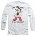 Astro Boy adult long-sleeved shirt Who Needs Parts white