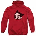 Astro Boy pull-over hoodie Face adult red