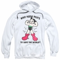Astro Boy pull-over hoodie Who Needs Parts adult white