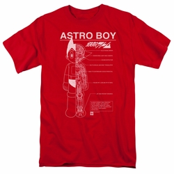 Astro Boy t-shirt Schematics mens red
