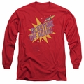 Astro Pop adult long-sleeved shirt Blast Off red