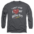 Astro Pop adult long-sleeved shirt I Heart charcoal