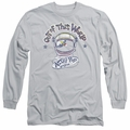 Astro Pop adult long-sleeved shirt Out Of The World silver