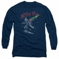 Astro Pop adult long-sleeved shirt Space Joust navy