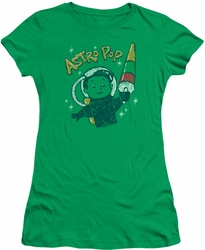 Astro Pop juniors sheer t-shirt Astro Boy kelly green