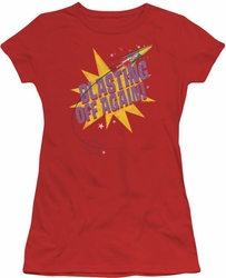 Astro Pop juniors sheer t-shirt Blast Off red