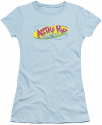 Astro Pop juniors sheer t-shirt Logo light blue