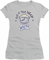 Astro Pop juniors sheer t-shirt Out Of The World silver