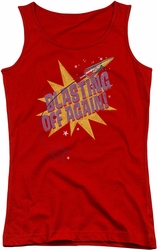 Astro Pop juniors tank top Blast Off red