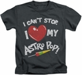 Astro Pop kids t-shirt I Heart charcoal