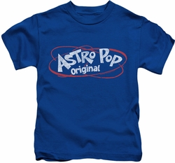 Astro Pop kids t-shirt Vintage Logo royal blue