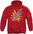 Astro Pop pull-over hoodie Blast Off adult red