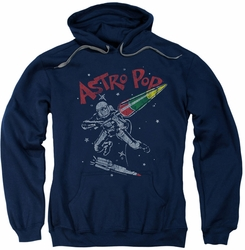 Astro Pop pull-over hoodie Space Joust adult navy