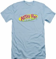 Astro Pop slim-fit t-shirt Logo mens light blue