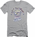 Astro Pop slim-fit t-shirt Out Of The World mens silver
