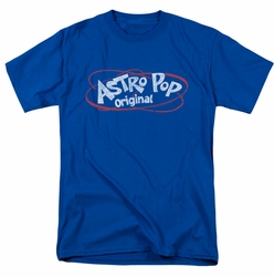 Astro Pop t-shirt Vintage Logo mens royal blue