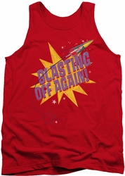 Astro Pop tank top Blast Off adult red