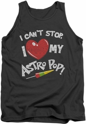 Astro Pop tank top I Heart adult charcoal