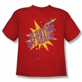 Astro Pop youth teen t-shirt Blast Off red