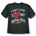 Astro Pop youth teen t-shirt I Heart charcoal