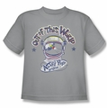 Astro Pop youth teen t-shirt Out Of The World silver