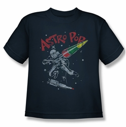 Astro Pop youth teen t-shirt Space Joust navy