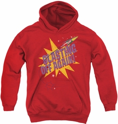 Astro Pop youth teen hoodie Blast Off red