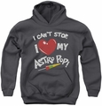 Astro Pop youth teen hoodie I Heart charcoal