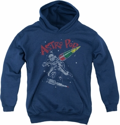 Astro Pop youth teen hoodie Space Joust navy